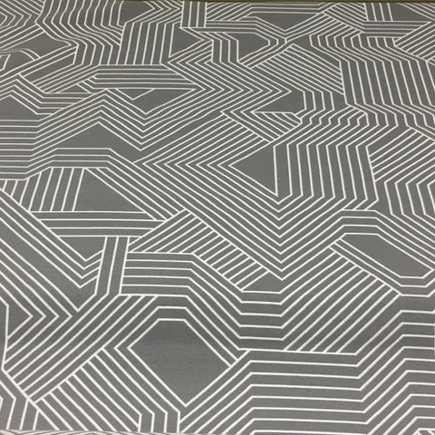 Carnegie Maze Color 33 Geometric Gray Upholstery Fabric