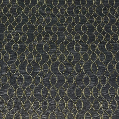 Momentum Ascend Dusk Wavy Lined Blue Upholstery Fabric