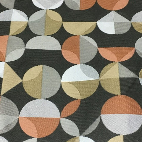 Arc-Com Radius Ash Geometric Design Gray Upholstery Fabric
