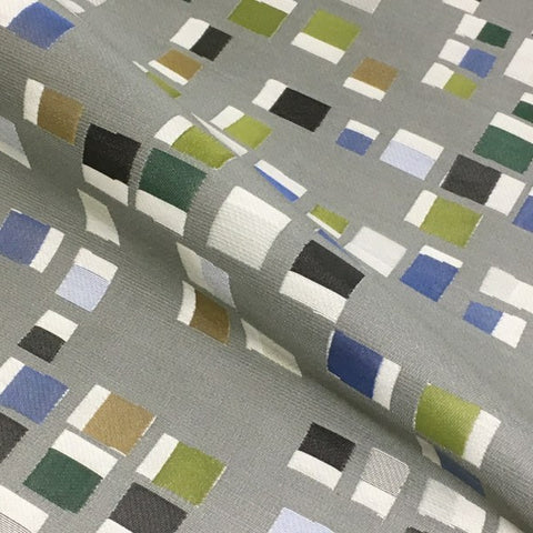 Momentum Pierre Flagstone Small Scale Geometric Gray Upholstery Fabric