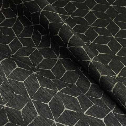 Arc-Com Itajime Coal Modern Design Gray Upholstery Fabric