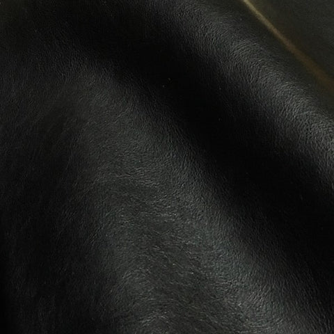 LDI Montana Midnight Solid Black Faux Leather Upholstery Vinyl