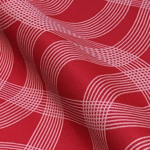 Maharam Cursive Fast Designer Red Upholstery Fabric