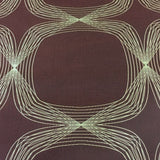 Arc-Com Kinetic Terracotta Geometric Lines Burgundy Upholstery Fabric