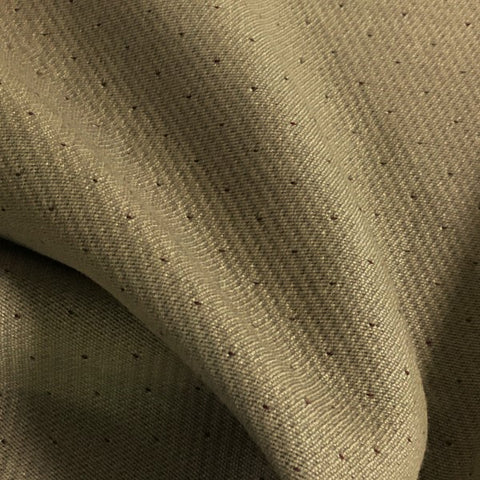 Lantel Red Dot Pattern Tan Wool Blend Upholstery Fabric