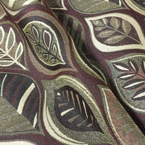 Swavelle Mill Creek Warbler Redwood Leaf Designed Upholstery Fabric