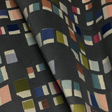 Momentum Pierre Fashionista Small Scale Geometric Gray Upholstery Fabric