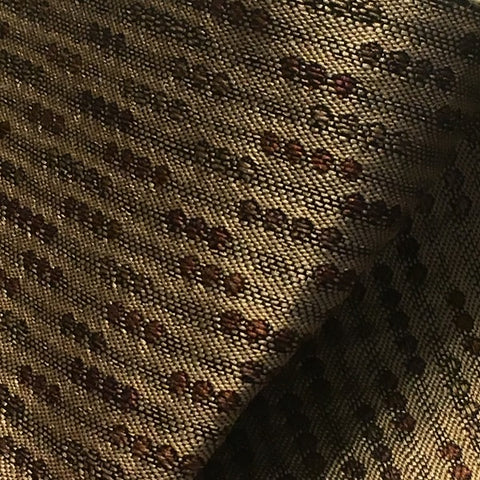 Swavelle Lolly Harvest Dotted Stripe Brown Upholstery Fabric
