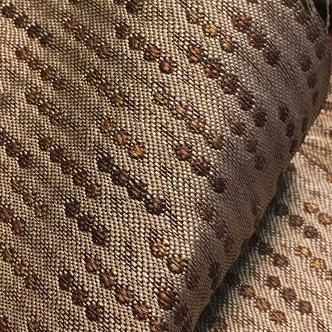 Swavelle Lolly Dune Dotted Stripe Brown Upholstery Fabric