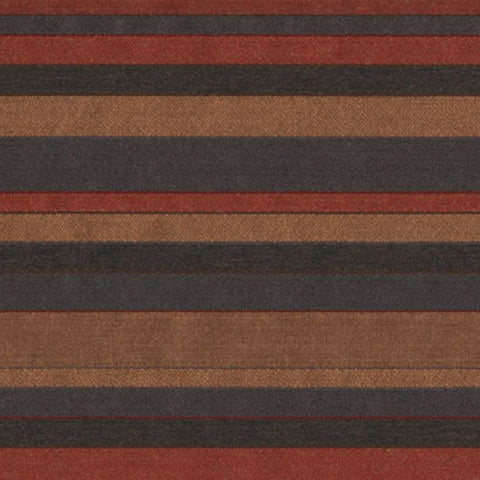 Bernhardt Parkway Persimmion Colorful Stripe Red Upholstery Fabric