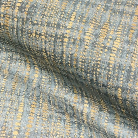 CF Stinson Vanish Aqua Dotted Stripe Blue Upholstery Fabric