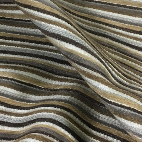 Richloom Otto Sahara Stripe Brown Upholstery Fabric