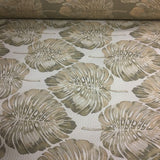 Swavelle Mill Creek Bermuda Sand Leaf Design Beige Upholstery Fabric