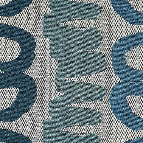 HBF Textiles Scribble Azur XL Abstract Blue Upholstery Fabric