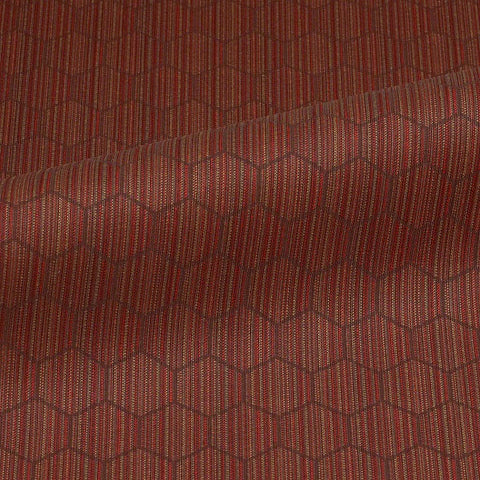 CF Stinson Hive Brick Red Upholstery Fabric