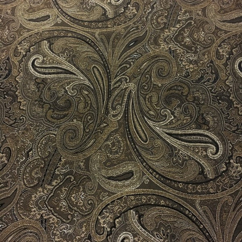 Swavelle Mill Creek Patna Paisley Noir Brown Upholstery Fabric