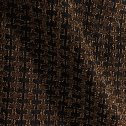 Swavelle Mill Creek Stitches Espresso Brown Upholstery Fabric