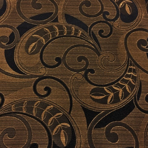 Swavelle Mill Creek Trumbal Onyx Paisley Design Brown Upholstery Fabric