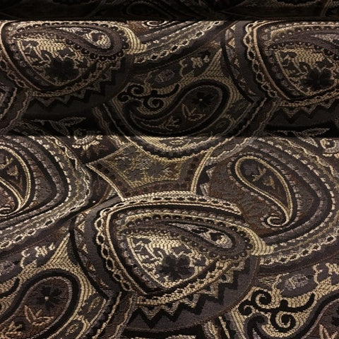 Swavelle Mill Creek Upholstery Fabric Paisley Pattern Eastham Espresso