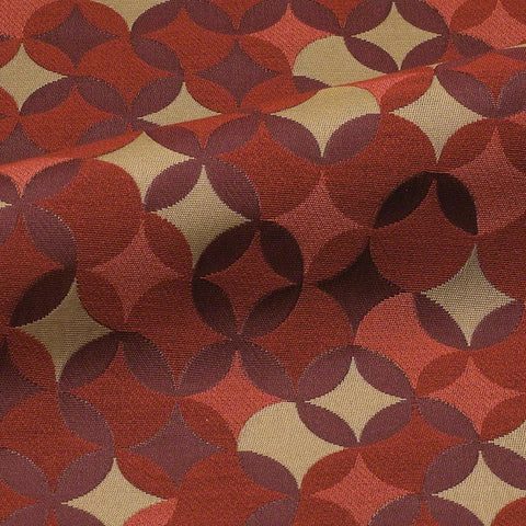 CF Stinson Whirl Razzle Dazzle Red Rectangle Stripe Upholstery Fabric