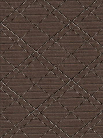 Eve Chocolate Raised Diamond Brown Drapery Fabric