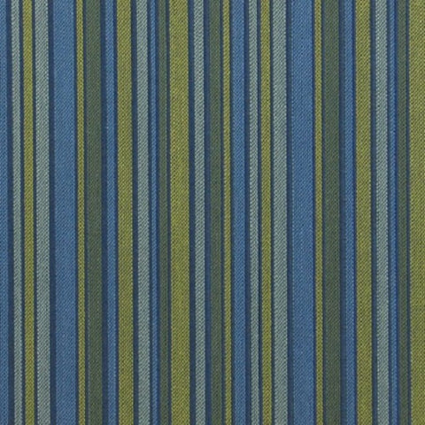 Maharam Fabrics Fabric Remnant of Align Fresh Blue Stripe Upholstery Fabric