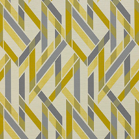 Momentum Almanac Lemongrass Stripe Crypton Yellow Upholstery Fabric