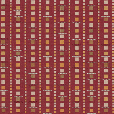 Arc-Com Fabrics Upholstery Fabric Remnant Analog Flame