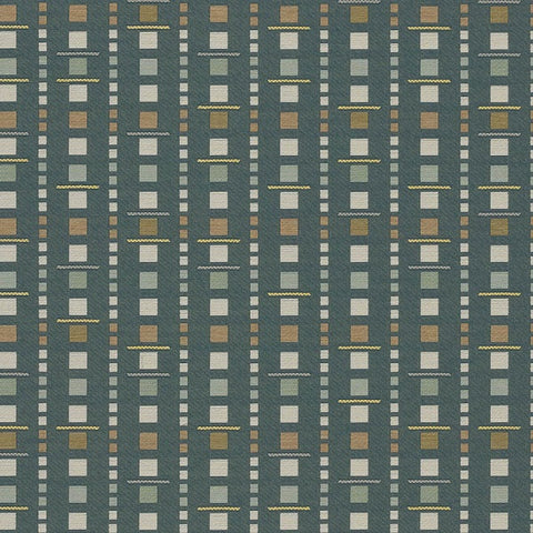 Arc-Com Analog Baltic Blue Upholstery Fabric