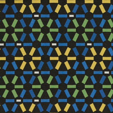 Arc-Com Atomic Cobalt Upholstery Fabric