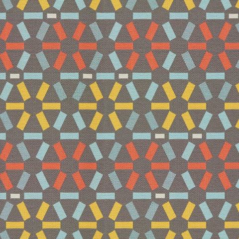 Remnant of Arc-Com Atomic Fog Gray Upholstery Fabric