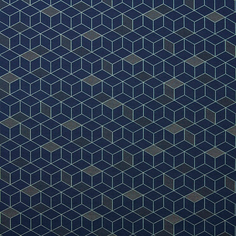 Wolf Gordon Basis Bright Navy Blue Upholstery Fabric