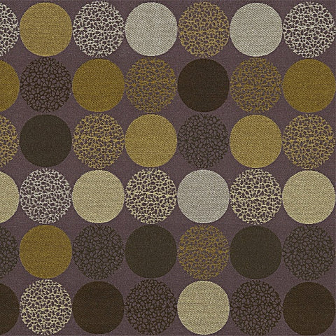 Carnegie Bauble Color 45 Textured Circle Purple Upholstery Fabric