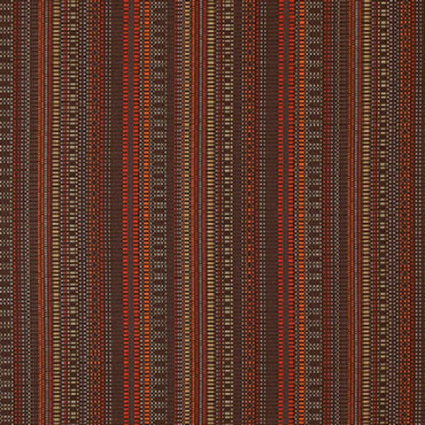Momentum Beep Furnace Colorful Checked Stripe Gray Upholstery Fabric