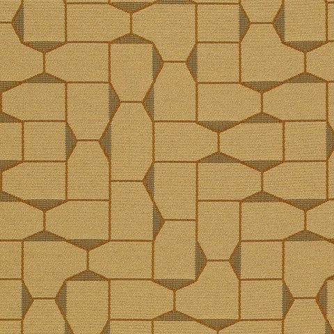 Maharam Fabrics Fabric Remnant of Bevel Amber Yellow Upholstery Fabric