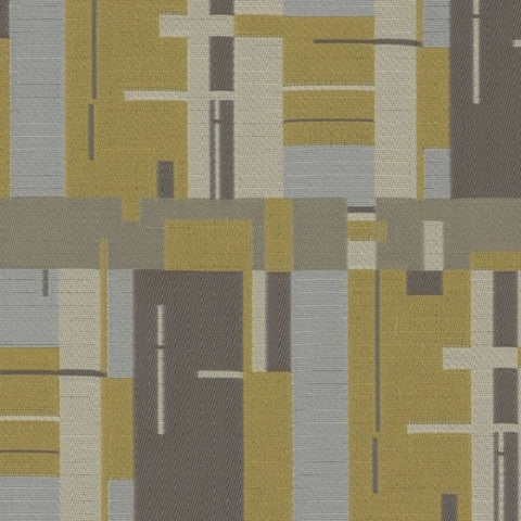 Designtex Birch Bark Plaid Goldfinch Upholstery Fabric