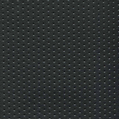 CMI Black Perforated Durable Solid Vinyl Upholstery Fabric