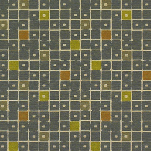 Momentum Textiles Bloc Canal Colorful Checker Upholstery Fabric