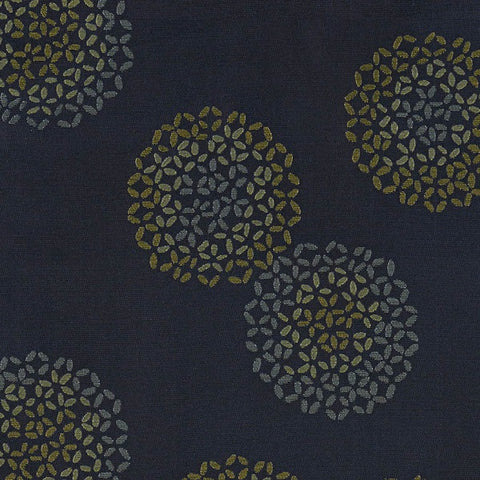 Arc-com Brayer Flower Blueberry Abstract Floral Blue Upholstery Fabric