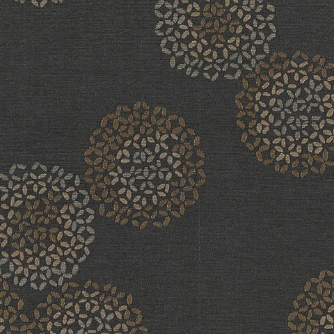 Arc-com Brayer Flower Smoke Abstract Floral Gray Upholstery Fabric