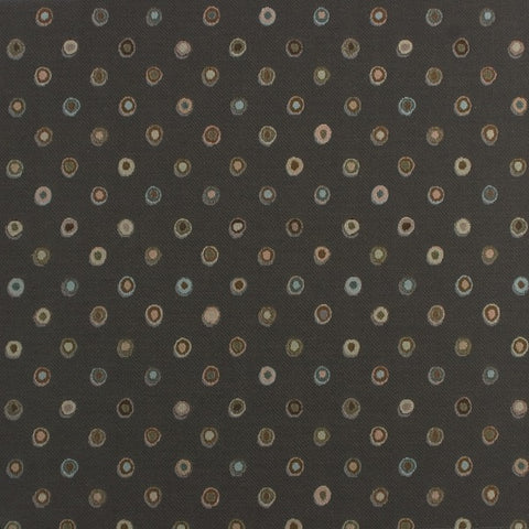 Arc-Com Bubbly Ash Gray Colorful Circle Upholstery Fabric