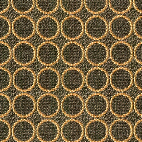 Pollack Fabrics Fabric Remnant of Bulls Eye Black Gold Upholstery Fabric