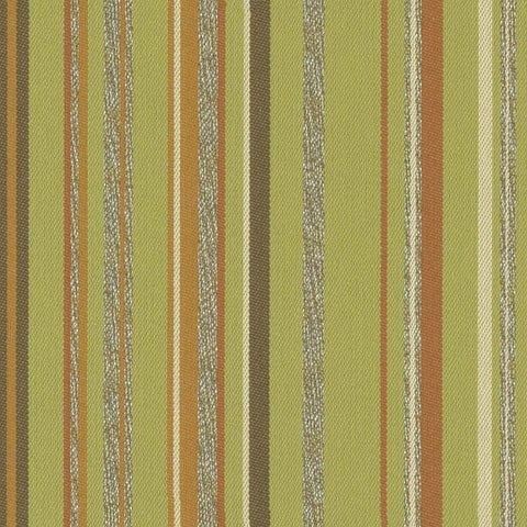 Arc-Com Fabrics Fabric Remnant of Campus Stripe Lime Green Upholstery Fabric