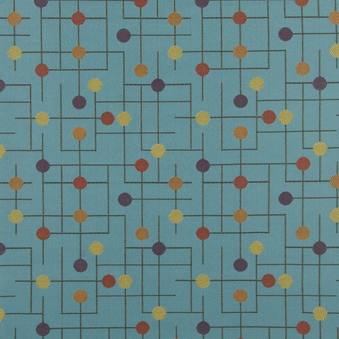 Fabric Remnant of Arc-Com Candy Land Blue Razz Upholstery Fabric