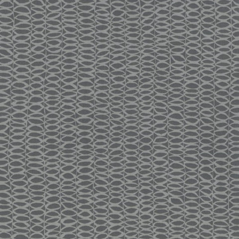 Designtex Catalyst Steel Rows Of Ovals Gray Upholstery Vinyl