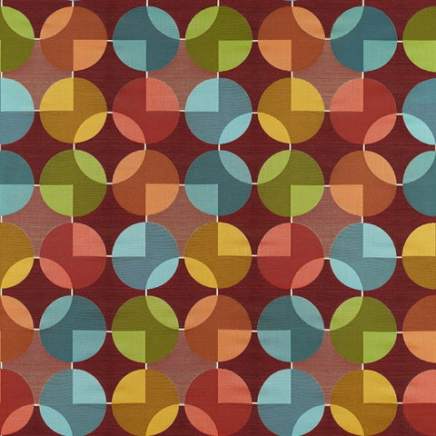 Arc-Com Compass Garnet Red Geometric Upholstery Fabric
