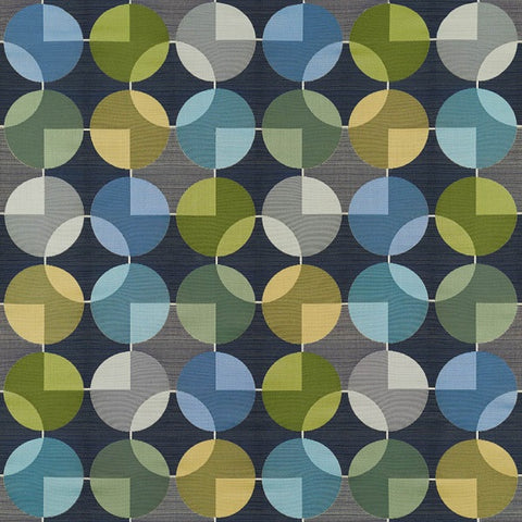 Arc-Com Fabrics Upholstery Fabric Geometric Design Compass Midnight
