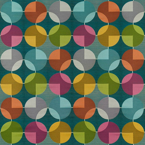 Arc-Com Fabrics Upholstery Fabric Remnant Compass Teal