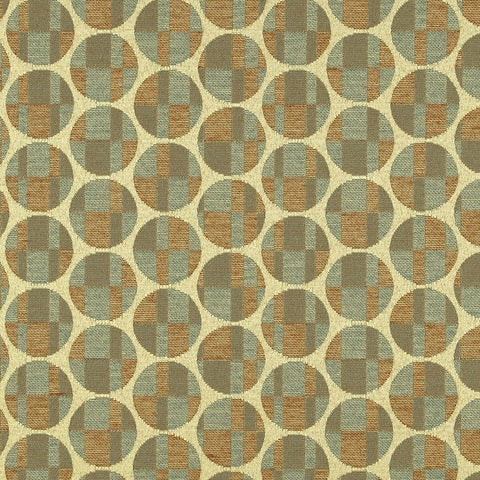 Remnant of Maharam Disc Khaki Tan Upholstery Fabric