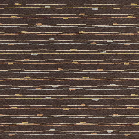 Momentum Textiles Camber Java Durable Brown Stripe Upholstery Fabric